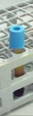 Light blue top (citrate).