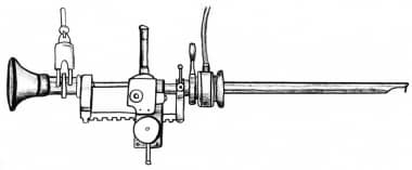Original 1932 Stern-McCarthy resectoscope with rac