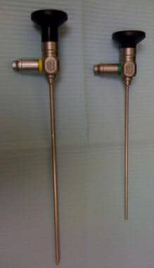 4.0 mm and 3.0 mm rigid nasal endoscopes.