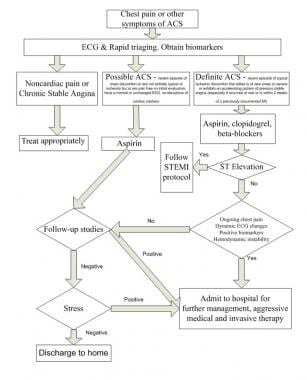 Suggested algorithm for triaging patients with che